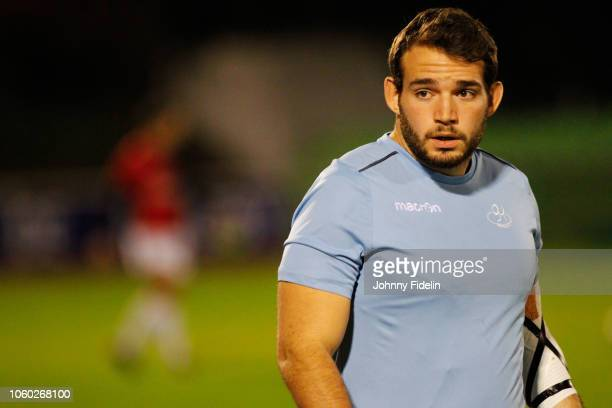 Antoine Soave of Massy before the Pro D2 match between Massy and Oyonnax on November 9 2018 in Massy France