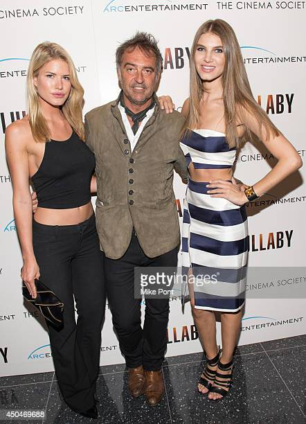 Antoine Verglas and Ashley Haas attend the Arc Entertainment The Cinema Society screening of Lullaby at Museum of Modern Art on June 11 2014 in New...