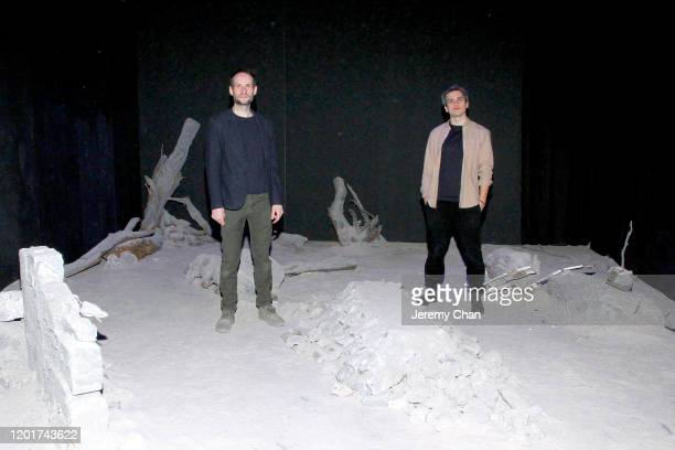 """Antoine Viviani and Pierre-Alain Giraud of """"Solastalgia"""" attends the New Frontier Press Preview during the 2020 Sundance Film Festival at New..."""