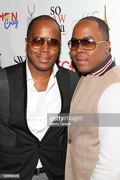Antoine Von Boozier and Andre Von Boozier attend the 'King on 34th' series premiere at Studio XXI on October 9 2013 in New York City