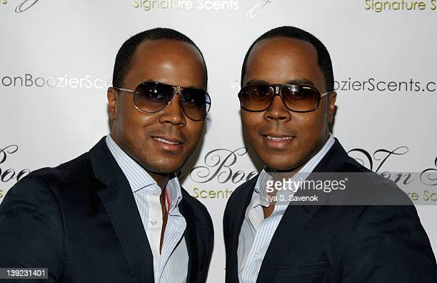 Antoine Von Boozier and Andre Von Boozier attend the VB Premier Lux Candle Collection launch party at The Gift at the Grace Hotel on February 17 2012...