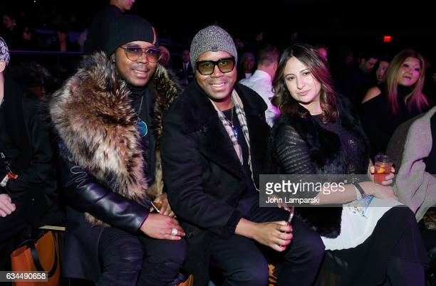 Antoine Von Boozier Andre Von Boozier and Veronica Lee Anne attend Popoganda By Richie Rich fashion show during New York Fashion Week at The Theater...