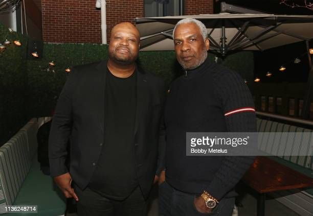 Antoine Walker and Charles Oakley are seen at Dwyane Wade's One Last Dance Retirement Party at CATCH NYC on April 10 2019 in New York City