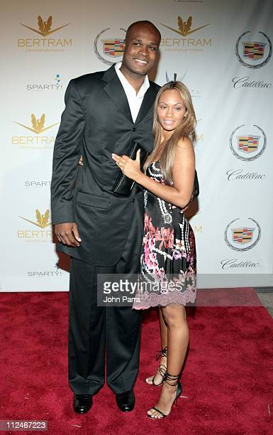 Antoine Walker and guest during Shaq's 34th Scarface Birthday Party Arrivals at Indian Creek Island in Miami Beach Florida United States
