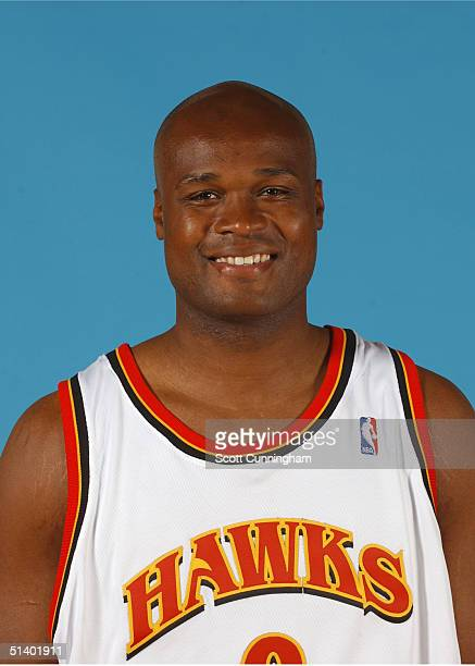 Antoine Walker of the Atlanta Hawks poses for a portrait during NBA Media Day on October 4 2004 at Philips Arena in Atlanta Georgia NOTE TO USER User...