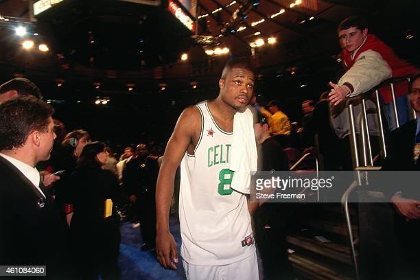 Antoine Walker of the Boston Celtics walks during the 1998 NBA AllStar Game played on February 8 1998 at Madison Square Garden in New York City NOTE...