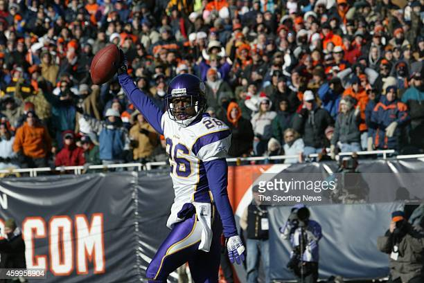 Antoine Winfield of the Minnesota Vikings celebrates after the score during a game against the Chicago Bears on December 3 2006 at Soldier Field in...