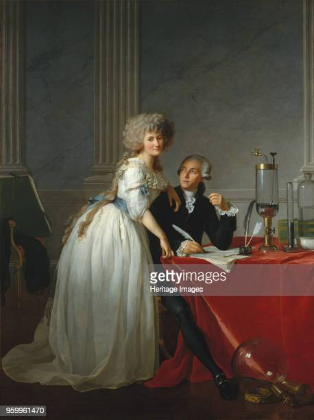 AntoineLaurent Lavoisier and His Wife 1788 Found in the Collection of Metropolitan Museum of Art New York