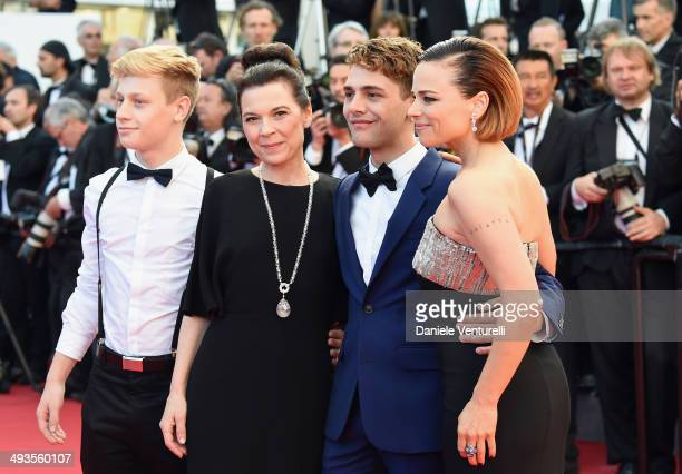 AntoineOlivier Pilon Anne Dorval Xavier Dolan and Suzanne Clement attend the Closing Ceremony and 'A Fistful of Dollars' Screening during the 67th...