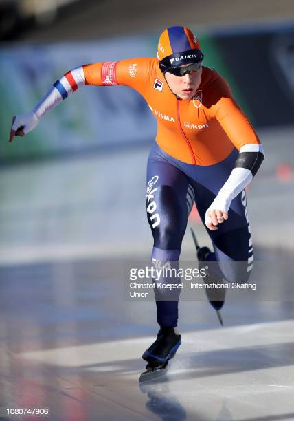 Antoinette De Jong of the Netherlands skates during the ladies 500 meter allround race during Day 1 of the ISU European Speed Skating Championships...