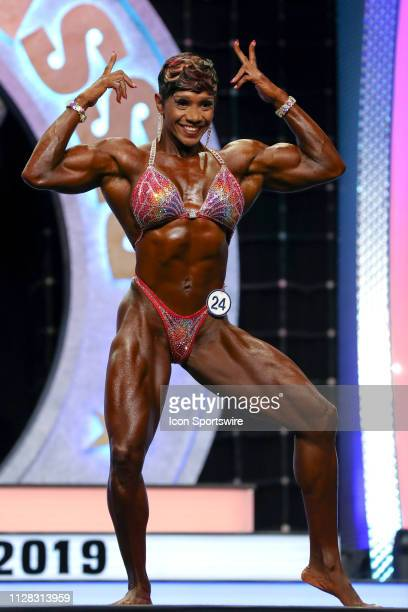 Antoinette Downie competes in Women's Physique as part of the Arnold Sports Festival on March 1 at the Greater Columbus Convention Center in Columbus...