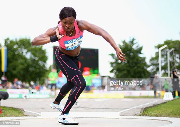 Antoinette Nana Djimou of France competes in the Women's shot put during the women's heptathlon during the Hypo meeting Gotzis 2015 at the Mosle...