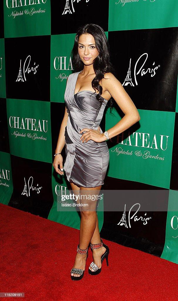 Antoinette Nikprelaj, a mermaid in 'Pirates Of The Caribbean: On Stranger Tides' arrives at Chateau Nightclub & Gardens on June 3, 2011 in Las Vegas, Nevada.