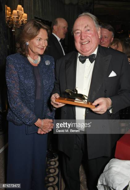 Antoinette Oppenheimer and Anthony Oppenheimer attend The Cartier Racing Awards 2017 at The Dorchester on November 14 2017 in London England
