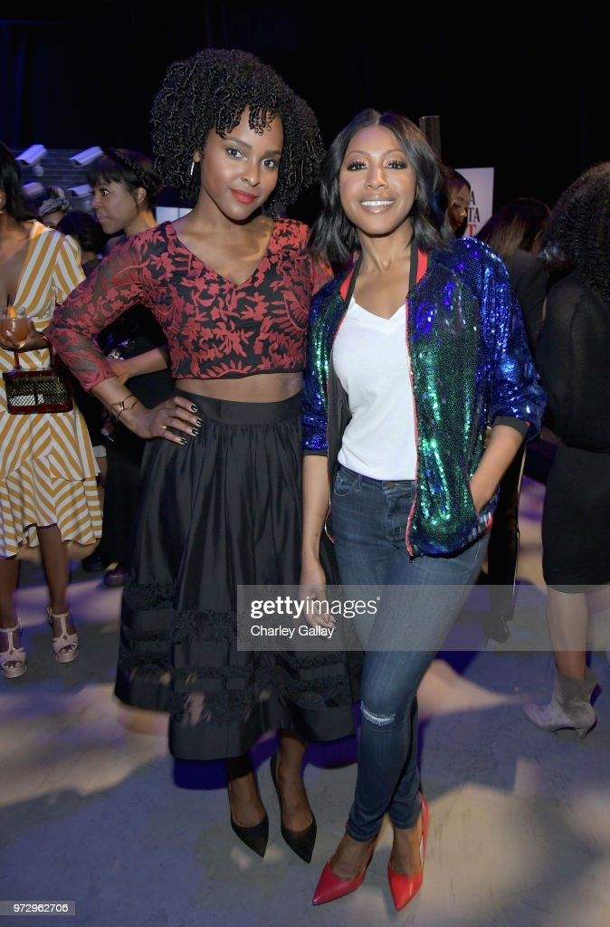 Antoinette Robertson (L) and Gabrielle Dennis attend Strong Black Lead party during Netflix FYSEE at Raleigh Studios on June 12, 2018 in Los Angeles, California.