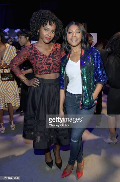 Antoinette Robertson and Gabrielle Dennis attend Strong Black Lead party during Netflix FYSEE at Raleigh Studios on June 12 2018 in Los Angeles...