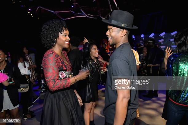 Antoinette Robertson and Marque Richardson attend Strong Black Lead party during Netflix FYSEE at Raleigh Studios on June 12 2018 in Los Angeles...