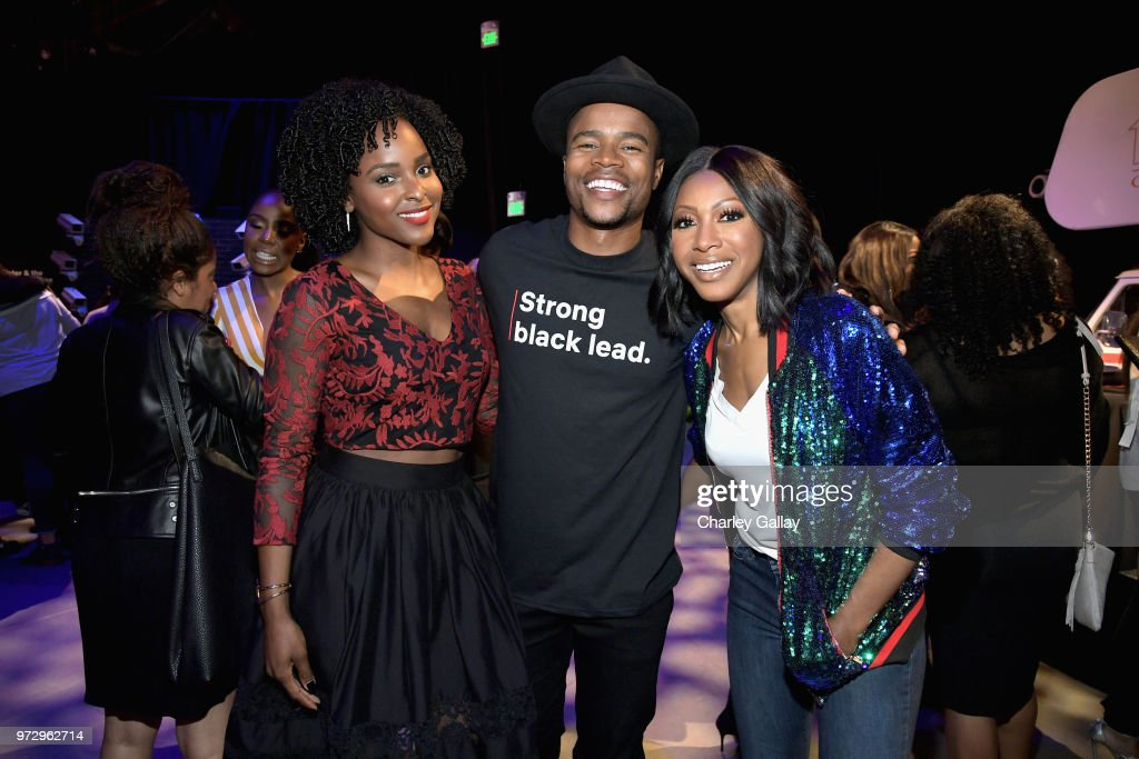 Antoinette Robertson, Marque Richardson and Gabrielle Dennis attend Strong Black Lead party during Netflix FYSEE at Raleigh Studios on June 12, 2018 in Los Angeles, California.