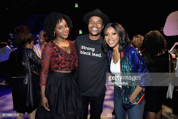 Antoinette Robertson Marque Richardson and Gabrielle Dennis attend Strong Black Lead party during Netflix FYSEE at Raleigh Studios on June 12 2018 in...