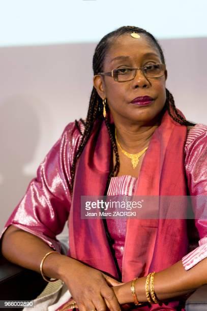 Antoinette Tidjani Alou professeur jamaïcaine de littérature française et comparée lors du 31e salon du livre et de la presse le 29 avril 2017 à...