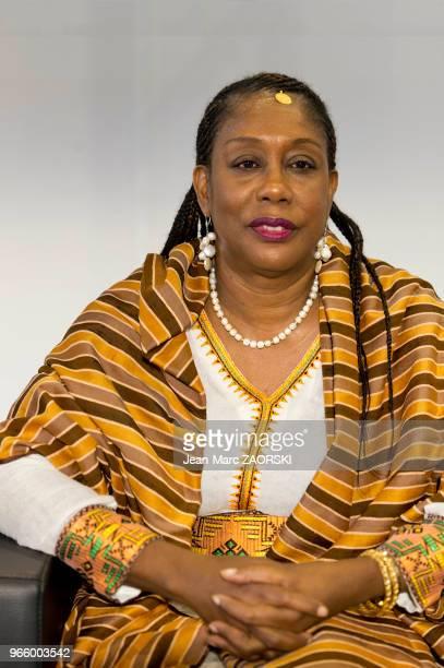 Antoinette Tidjani Alou professeur jamaïcaine de littérature française et comparée lors du 31e salon du livre et de la presse le 30 avril 2017 à...