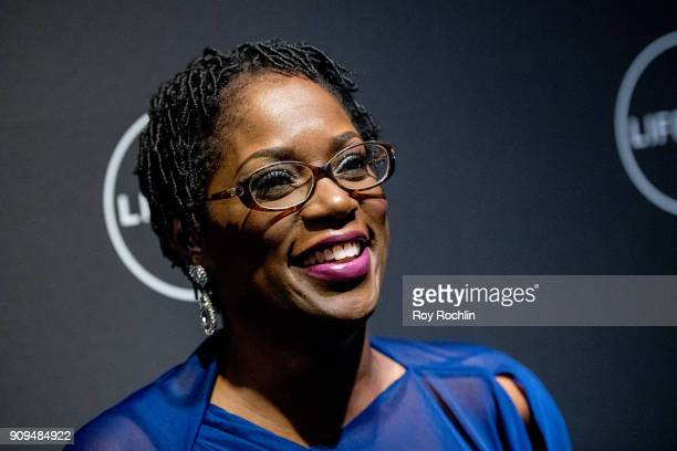 """Antoinette Tuff attends """"Faith Under Fire: The Antoinette Tuff Story"""" Screening at NeueHouse Madison Square on January 23, 2018 in New York City."""
