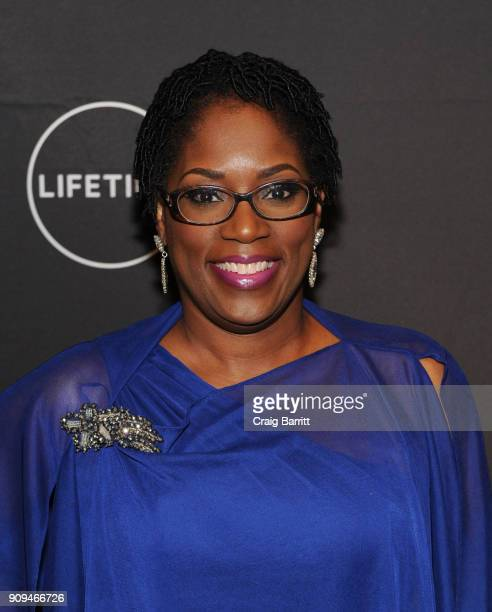"""Antoinette Tuff attends Lifetime""""s Film,""""Faith Under Fire: The Antoinette Tuff Story"""" red carpet screening and premiere event at NeueHouse Madison..."""