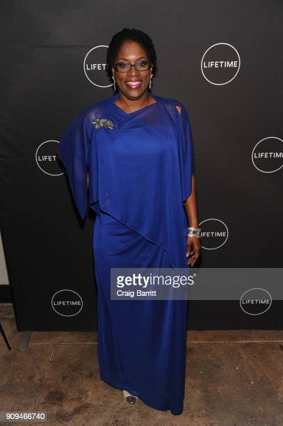 Antoinette Tuff attends Lifetime's Film'Faith Under Fire The Antoinette Tuff Story' red carpet screening and premiere event at NeueHouse Madison...