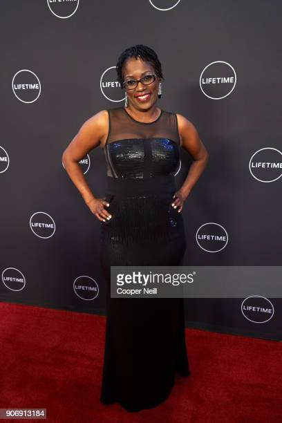 """Antoinette Tuff poses for a photo during the premiere of """"Faith Under Fire: The Antoinette Tuff Story"""" at the Potter's House on January 18, 2018 in..."""