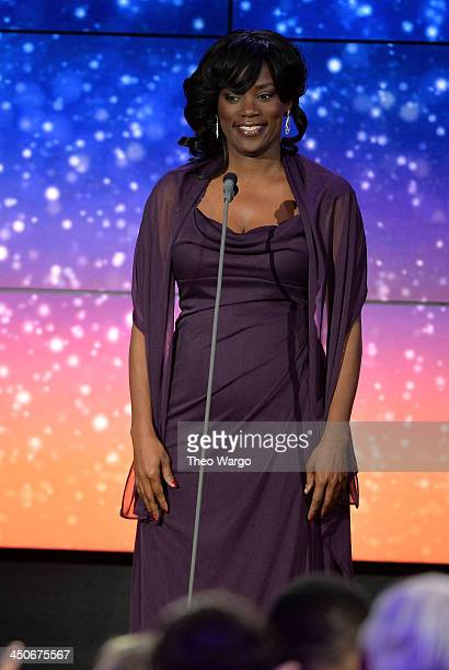 Antoinette Tuff speaks onstage at 2013 CNN Heroes: An All Star Tribute at The American Museum of Natural History on November 19, 2013 in New York...