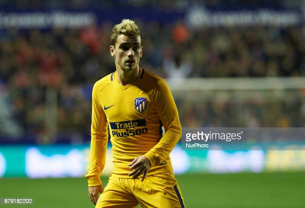 Antoinne Griezmann of Club Atletico de Madrid during the La Liga match between Levante UD and Club Atletico de Madrid at Estadio Ciutat de Valencia...