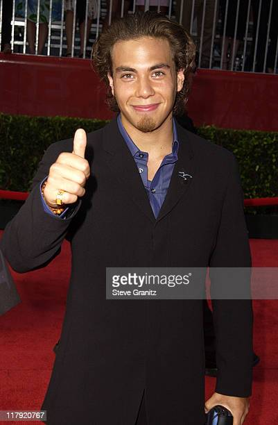 Anton Apolo Ohno during 2002 ESPY Awards Arrivals at The Kodak Theater in Hollywood California United States