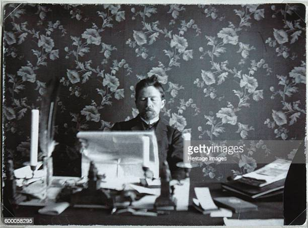 Anton Chekhov in his study in Yalta 18951900 Found in the collection of State Central Literary Museum Moscow Artist Anonymous