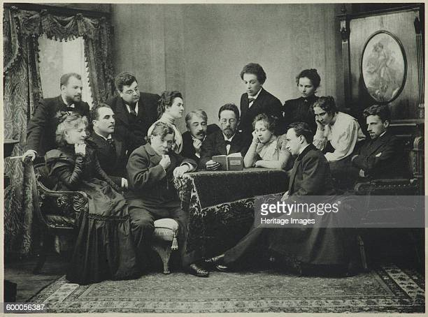 Anton Chekhov reads The Seagull with the Moscow Art Theatre company 1899 Found in the collection of State Central Literary Museum Moscow Artist...