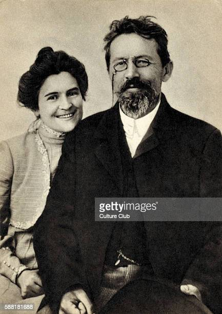Anton Chekhov with wife O L KnipperChekhova 1901 Russian dramatist / playwright 17 January 1860 2 July 1904