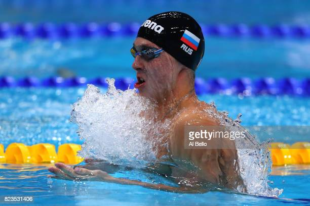 Anton Chupkov of Russia competes during the Men's 200m Breaststroke semi final on day fourteen of the Budapest 2017 FINA World Championships on July...