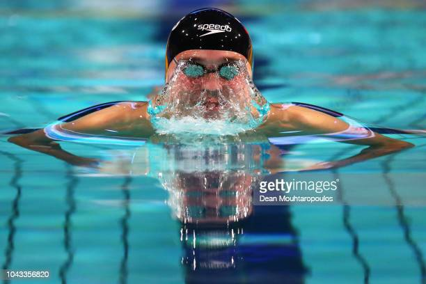 Anton Chupkov of Russia competes in the Mens 200m Breaststroke heat on day three of the FINA Swimming World Cup held at Pieter van den Hoogenband...