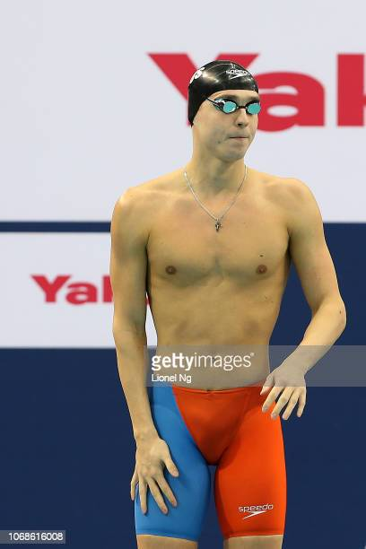 Anton Chupkov of Russia during the Men's 200m Breaststroke Heats on day three of the FINA Swimming World Cup at OCBC Aquatic Centre on November 17...