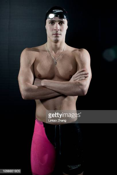 Anton Chupkov of Russia poses for a portrait during FINA Swimming World Cup 2018 previews at National Aquatics Center on November 3 2018 in Beijing...