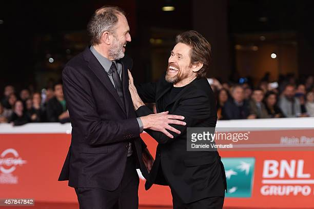 Anton Corbjin and Willem Dafoe attend the 'A Most Wanted Man' red carpet during the 9th Rome Film Festival at Auditorium Parco Della Musica on...