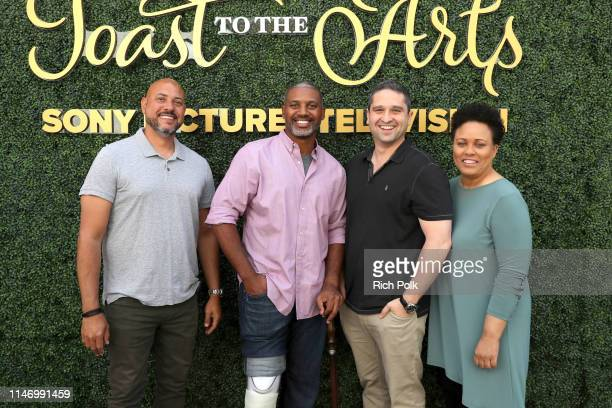 Anton Cropper Brandon Sonnier Brandon Margolis and Pam Veasey attend Sony Pictures Television's Emmy FYC Event 2019 'Toast to the Arts' on May 04...