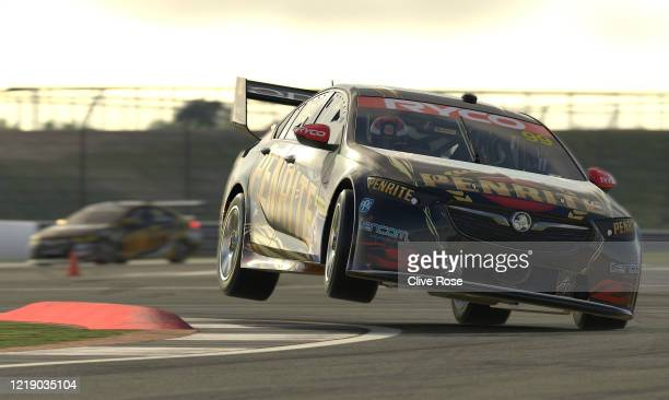 Anton De Pasquale driving the Penrite Racing Holden Commodore ZB in Race 4 during round 2 of the Supercars All Stars Eseries at Silverstone on April...