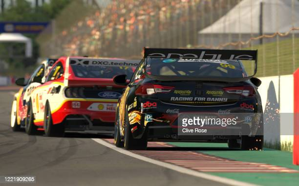 Anton de Pasquale driving the Penrite Racing Holden Commodore ZB clips the wall during round 4 of the Supercars All Stars Eseries at Circuit Gilles...