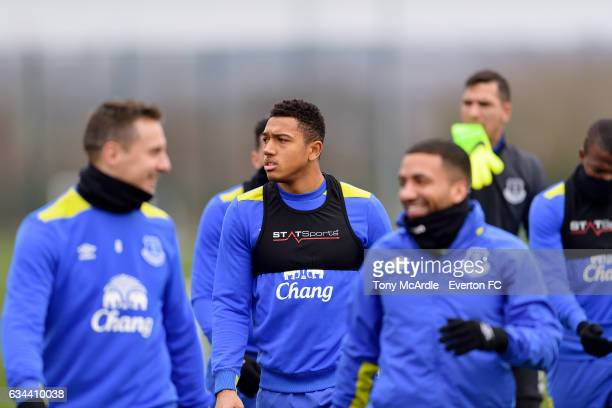 Anton Donkor during the Everton FC training session at USM Finch Farm on February 9 2017 in Halewood England