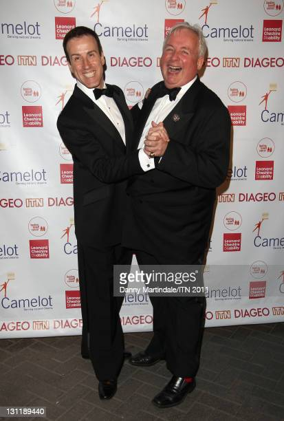 Anton Du Beke and Christopher Biggins attend Newsroom's Got Talent a charity event sponsored by Camelot which raised money for Leonard Cheshire...