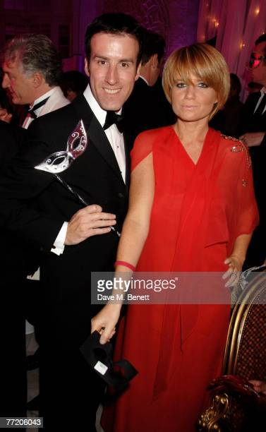 Anton du Beke and Patsy Palmer attend the cocktail party during The Pink Ice Ball In Aid Of Cancer Research UK at The Waldorf Hilton Hotel on October...