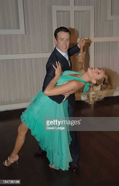Anton Du Beke and Tess Daly during TeaDirect Decent Dance Photocall at Trafalgar Hotel in London Great Britain
