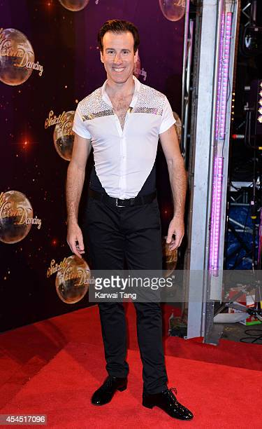 Anton du Beke attends the red carpet launch for Strictly Come Dancing 2014 at Elstree Studios on September 2 2014 in Borehamwood England