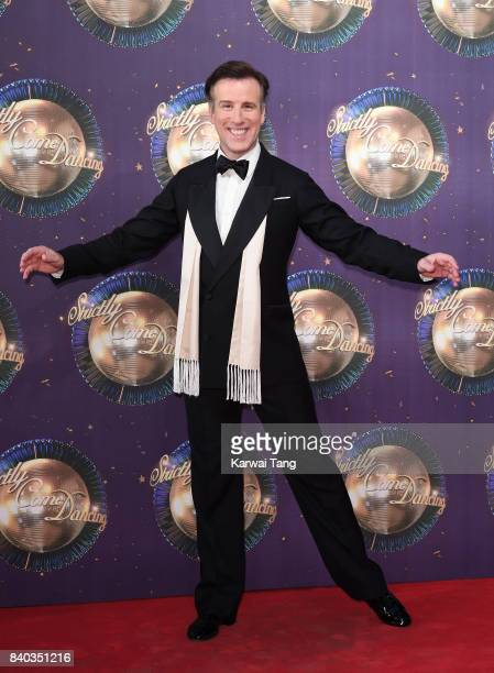 Anton du Beke attends the 'Strictly Come Dancing 2017' red carpet launch at Broadcasting House on August 28 2017 in London England