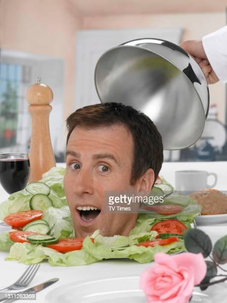 Anton Du Beke posed head shot in salad, July 19, 2008.